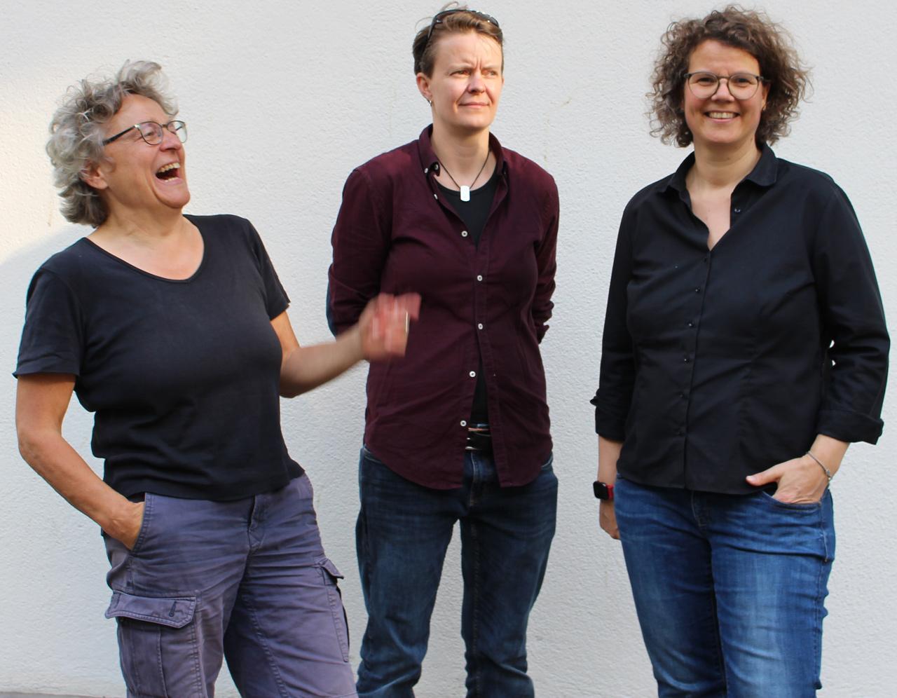 Vorstand LesbenRing e.V., Hedy Gerstung, Kathrin Schultz, Marion Lüttig