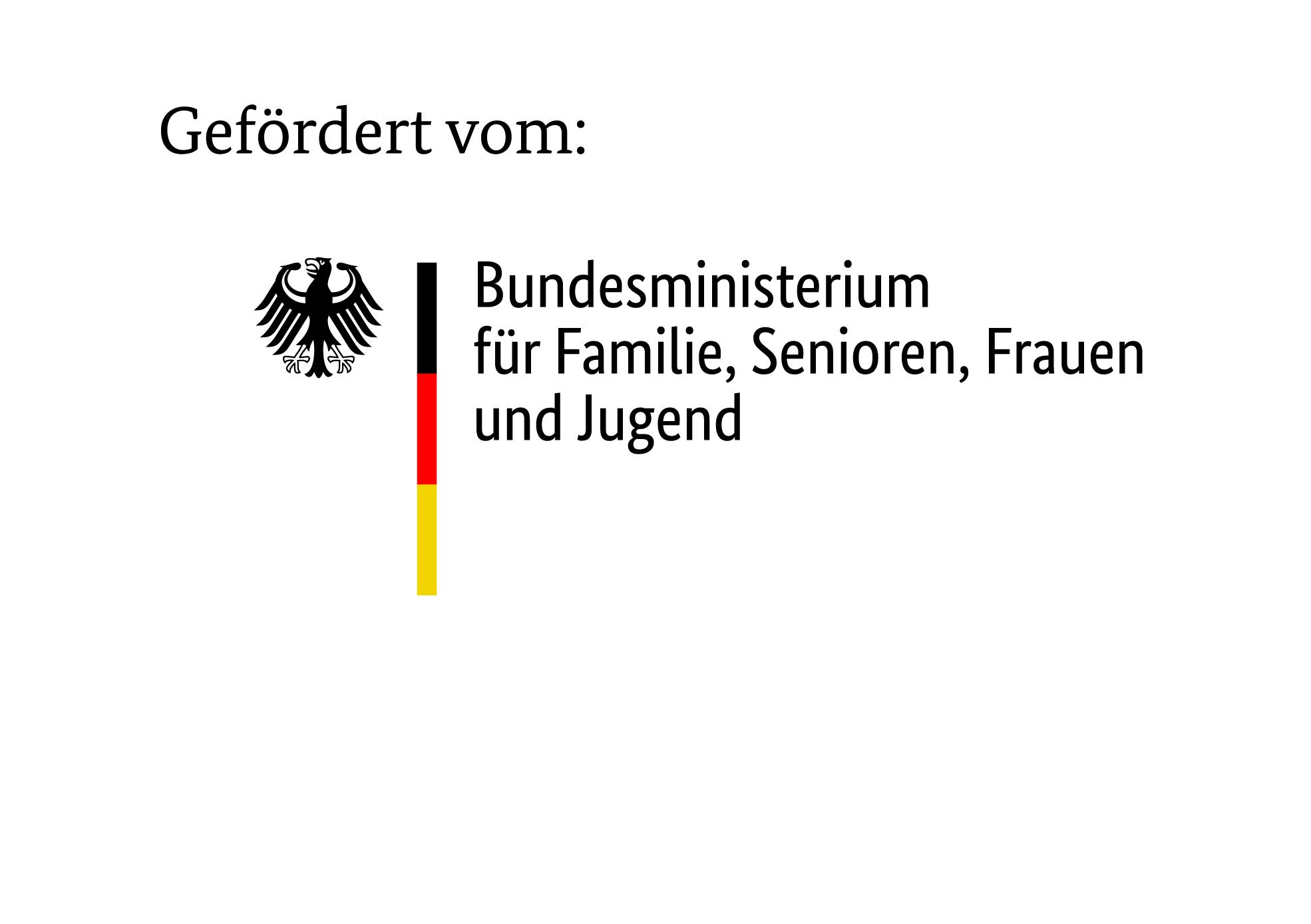 Gefördert com BMFSFJ - Bundesministerium für Familie, Senioren, Frauen und Jugend