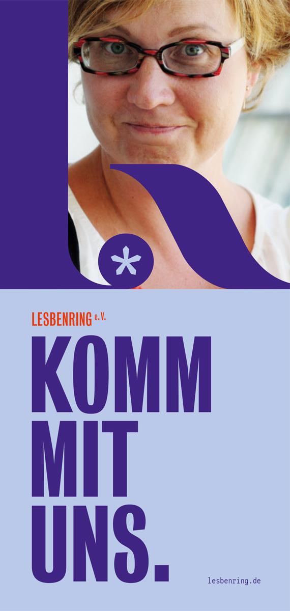 LesbenRing e.V. Flyer zum Download KOMM MIT UNS