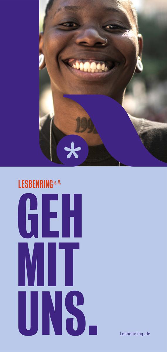 LesbenRing e.V. Flyer zum Download GEH MIT UNS