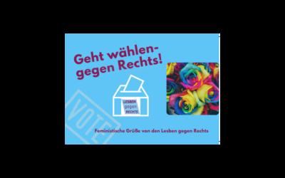"""LesbenRing unterzeichnet Aufruf zur Bundestagswahl von """"Lesben gegen Rechts"""""""